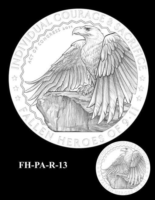 Fallen Heroes Flight 93 Medal Design Candidate FH-PA-R-13