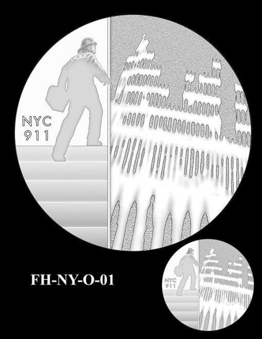 Fallen Heroes National September 11 Memorial and Museum Medal Design Candidate FH-NY-O-01