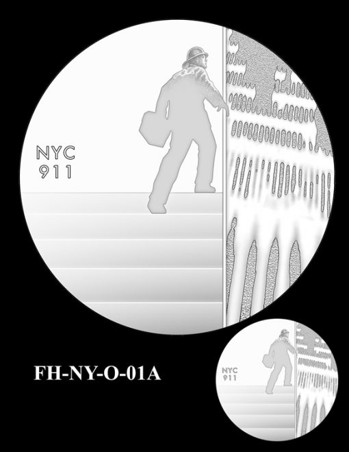 Fallen Heroes National September 11 Memorial and Museum Medal Design Candidate FH-NY-O-01A