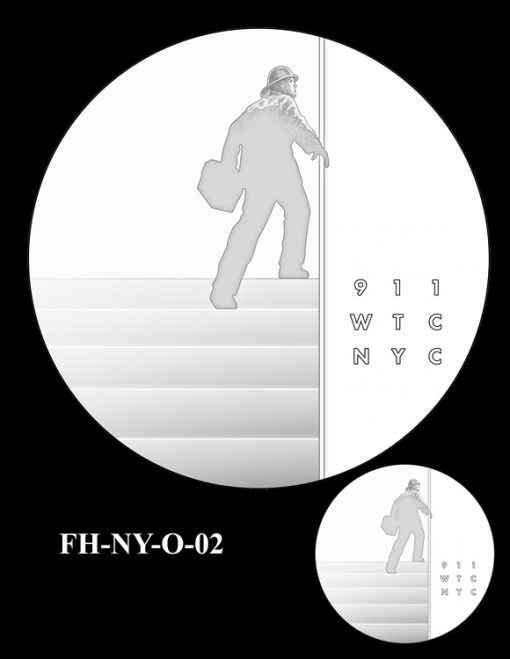 Fallen Heroes National September 11 Memorial and Museum Medal Design Candidate FH-NY-O-02