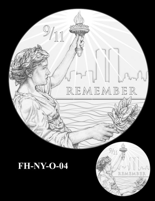 Fallen Heroes National September 11 Memorial and Museum Medal Design Candidate FH-NY-O-04