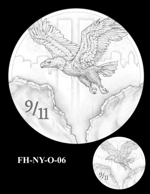 Fallen Heroes National September 11 Memorial and Museum Medal Design Candidate FH-NY-O-06