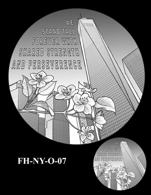 Fallen Heroes National September 11 Memorial and Museum Medal Design Candidate FH-NY-O-07