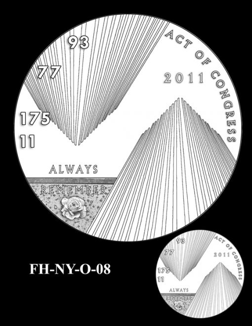 Fallen Heroes National September 11 Memorial and Museum Medal Design Candidate FH-NY-O-08