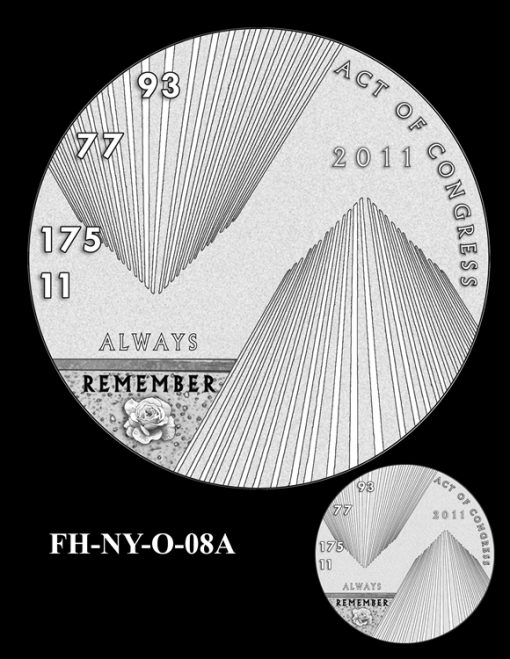 Fallen Heroes National September 11 Memorial and Museum Medal Design Candidate FH-NY-O-08A
