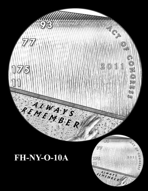 Fallen Heroes National September 11 Memorial and Museum Medal Design Candidate FH-NY-O-10A