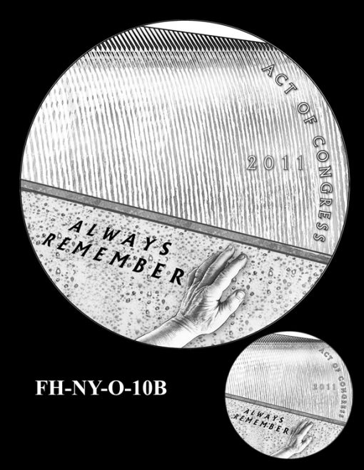 Fallen Heroes National September 11 Memorial and Museum Medal Design Candidate FH-NY-O-10B