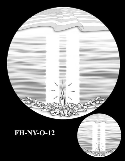 Fallen Heroes National September 11 Memorial and Museum Medal Design Candidate FH-NY-O-12
