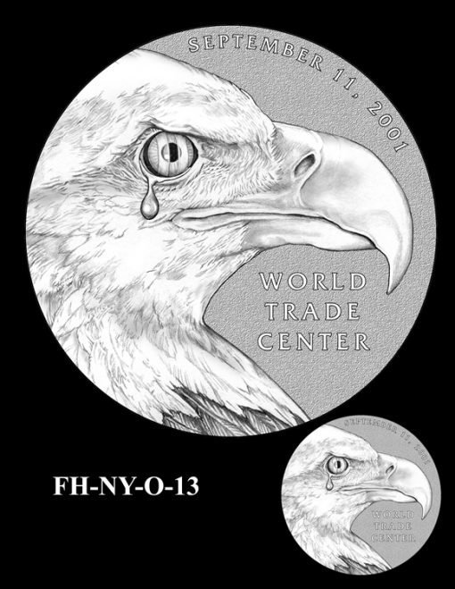 Fallen Heroes National September 11 Memorial and Museum Medal Design Candidate FH-NY-O-13