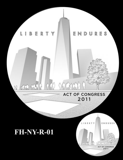Fallen Heroes National September 11 Memorial and Museum Medal Design Candidate FH-NY-R-01