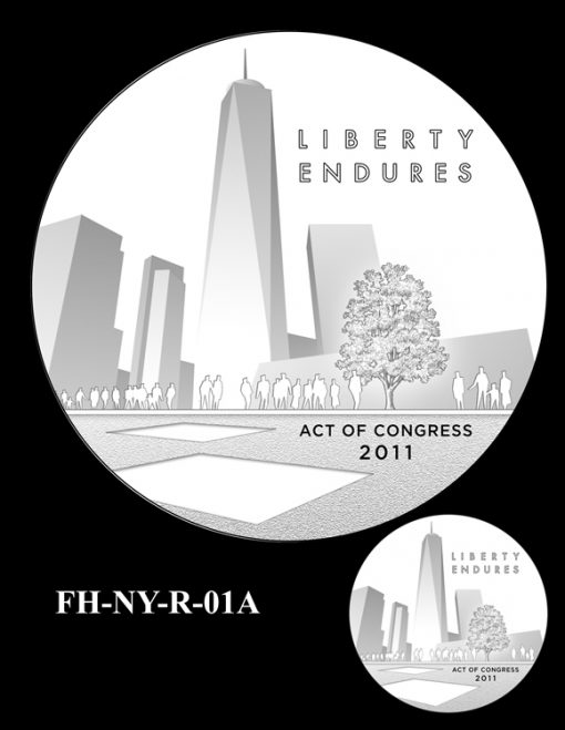 Fallen Heroes National September 11 Memorial and Museum Medal Design Candidate FH-NY-R-01A