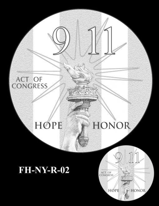 Fallen Heroes National September 11 Memorial and Museum Medal Design Candidate FH-NY-R-02
