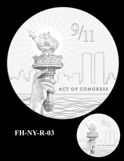 Fallen Heroes National September 11 Memorial and Museum Medal Design Candidate FH-NY-R-03