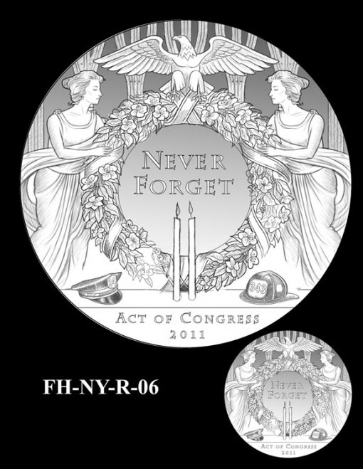 Fallen Heroes National September 11 Memorial and Museum Medal Design Candidate FH-NY-R-06