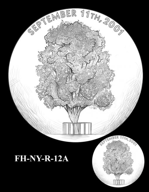 Fallen Heroes National September 11 Memorial and Museum Medal Design Candidate FH-NY-R-12A