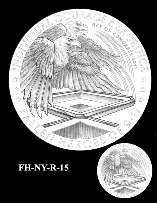Fallen Heroes National September 11 Memorial and Museum Medal Design Candidate FH-NY-R-15