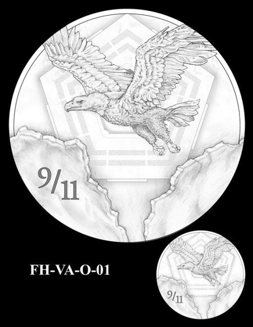 Fallen Heroes Pentagon Memorial Medal Design Candidate FH-VA-O-01