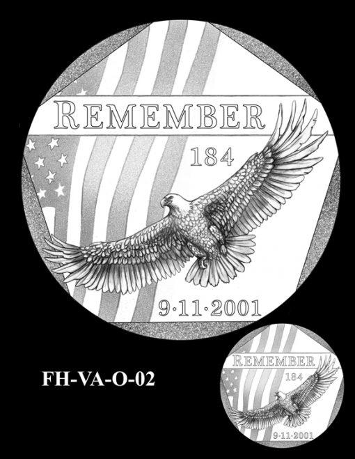 Fallen Heroes Pentagon Memorial Medal Design Candidate FH-VA-O-02