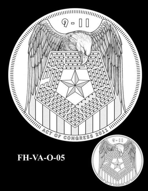 Fallen Heroes Pentagon Memorial Medal Design Candidate FH-VA-O-05