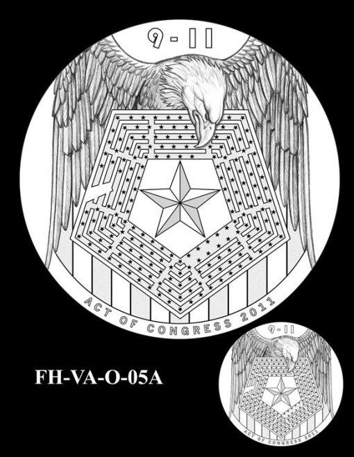 Fallen Heroes Pentagon Memorial Medal Design Candidate FH-VA-O-05A