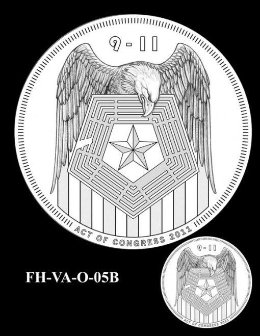 Fallen Heroes Pentagon Memorial Medal Design Candidate FH-VA-O-05B