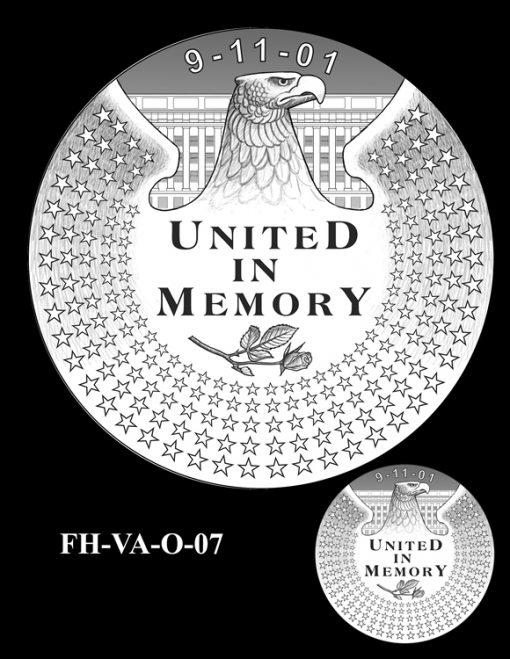 Fallen Heroes Pentagon Memorial Medal Design Candidate FH-VA-O-07