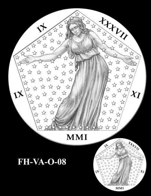 Fallen Heroes Pentagon Memorial Medal Design Candidate FH-VA-O-08