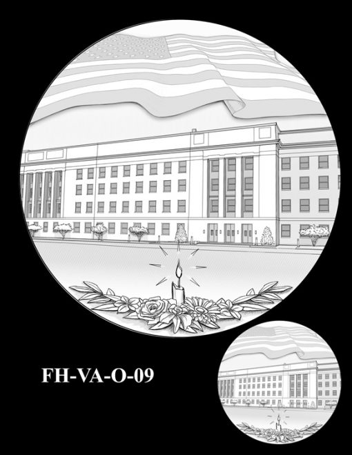 Fallen Heroes Pentagon Memorial Medal Design Candidate FH-VA-O-09