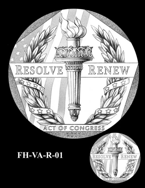 Fallen Heroes Pentagon Memorial Medal Design Candidate FH-VA-R-01