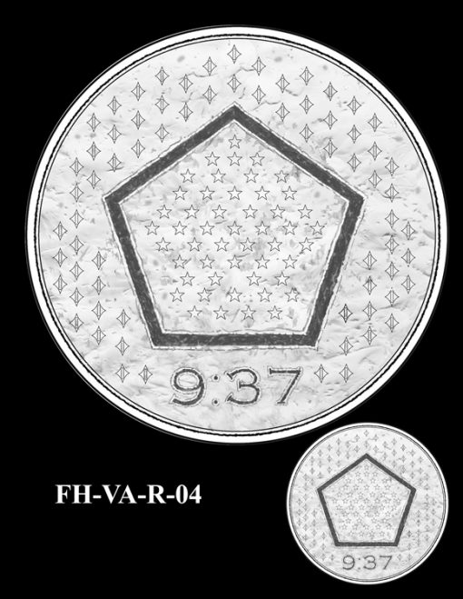 Fallen Heroes Pentagon Memorial Medal Design Candidate FH-VA-R-04