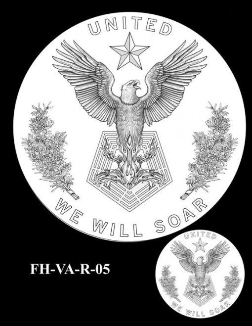 Fallen Heroes Pentagon Memorial Medal Design Candidate FH-VA-R-05