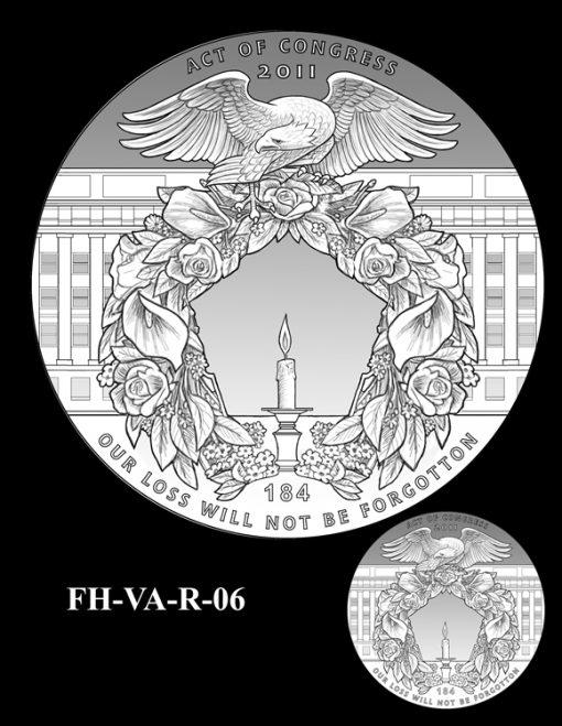 Fallen Heroes Pentagon Memorial Medal Design Candidate FH-VA-R-06
