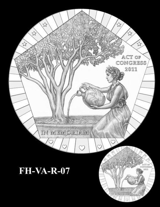 Fallen Heroes Pentagon Memorial Medal Design Candidate FH-VA-R-07