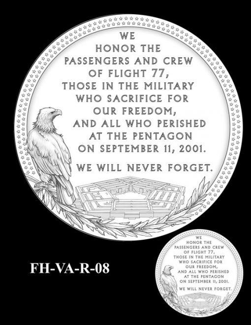 Fallen Heroes Pentagon Memorial Medal Design Candidate FH-VA-R-08