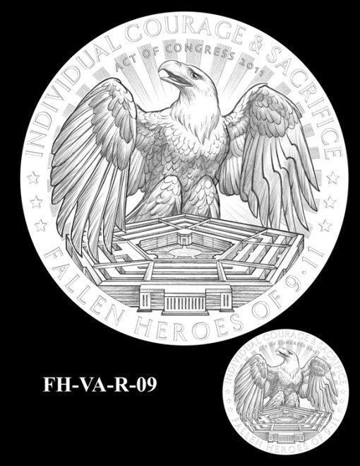 Fallen Heroes Pentagon Memorial Medal Design Candidate FH-VA-R-09