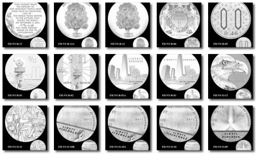 Fallen Heroes of 9/11 Congressional Gold Medals Designs