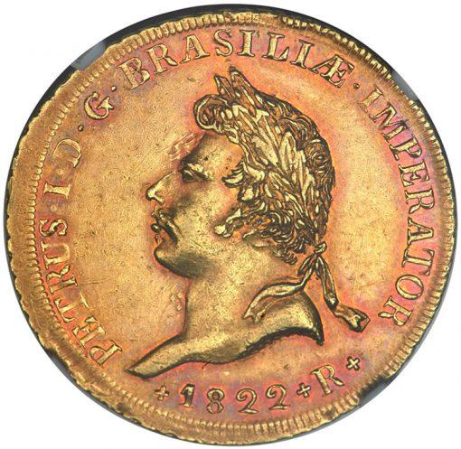 Pedro I gold 6400 Reis 1822-R
