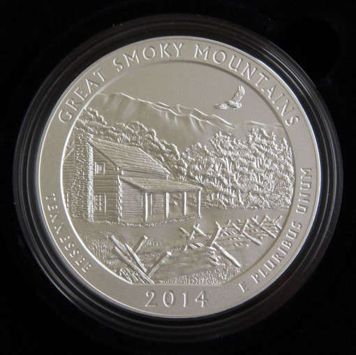 Photo of 2014-P Great Smoky Mountains Five Ounce Silver Coin