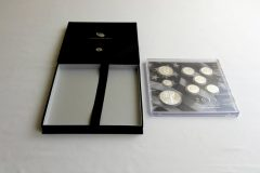 Presentation case and lens of the 2013 Limited Edition Silver Proof Set