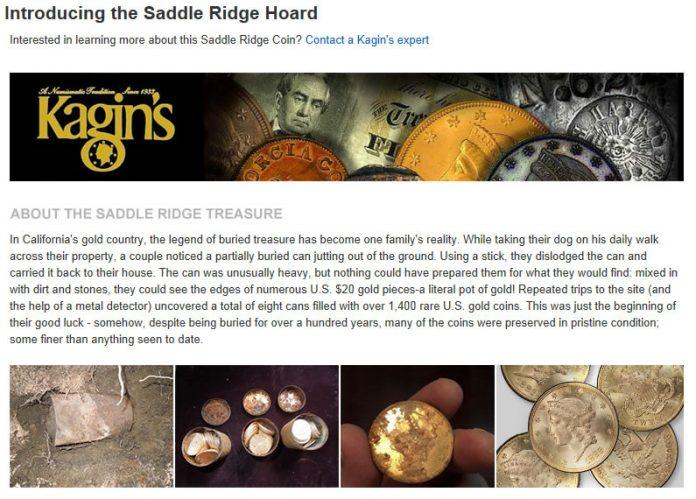 Saddle Ridge Hoard on Amazon