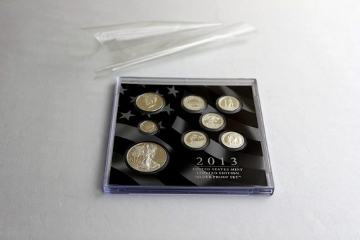 Wrapping pulled from the lens of the 2013 Limited Edition Silver Proof Set