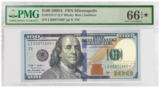 $100 Note with a Star Designation