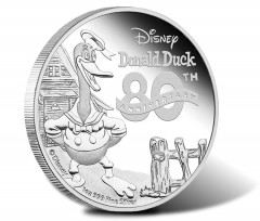 Donald Duck's 80th Anniversary Celebrated in Disney Coin Series