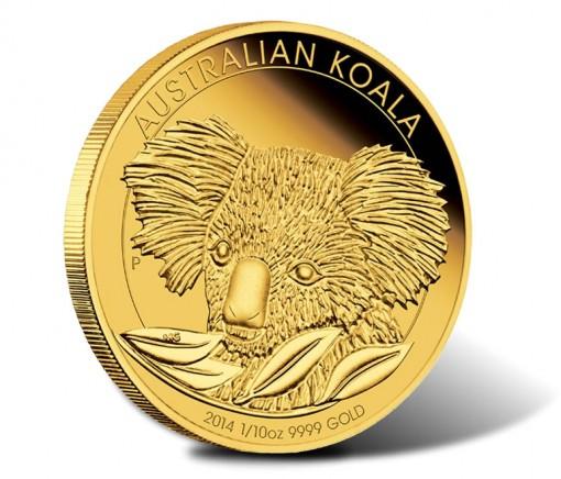 2014 Australian Koala Proof One-Tenth Gold Coin