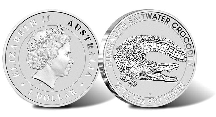 2014 Australian Saltwater Crocodile Silver Bullion Coin