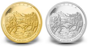 Battle of Lundy's Lane Depicted on Kilo Gold and Silver Coins