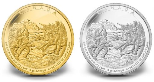 2014 Battle of Lundy's Lane Gold and Silver Coins