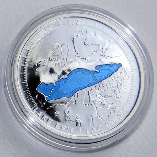 2014 Canadian Lake Erie Silver Coin