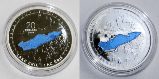 2014 Canadian Lake Erie Silver Coin (c)