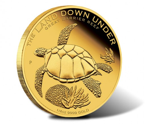 2014 Land Down Under Great Barrier Reef One-Fourth Ounce Gold Coin